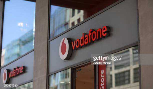 General view of the Vodafone store at Friedrichstrasse in Berlin on June 27, 2020 in Berlin, Germany.