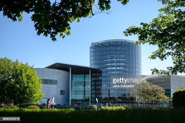 A general view of the Volkswagen AG factory on May 8 2018 in Dresden Germany From the beginning of May the car manufacturer has increased its output...