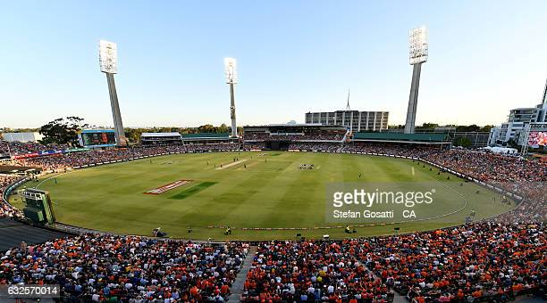 A general view of the WACA during the Big Bash League match between the Perth Scorchers and the Melbourne Stars at the WACA on January 24 2017 in...