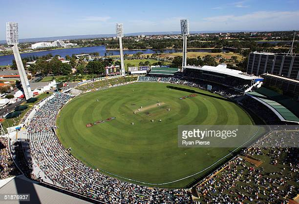 A general view of the WACA Ground during day three of the First Test between Australia and Pakistan played at the WACA on December 18 2004 in Perth...