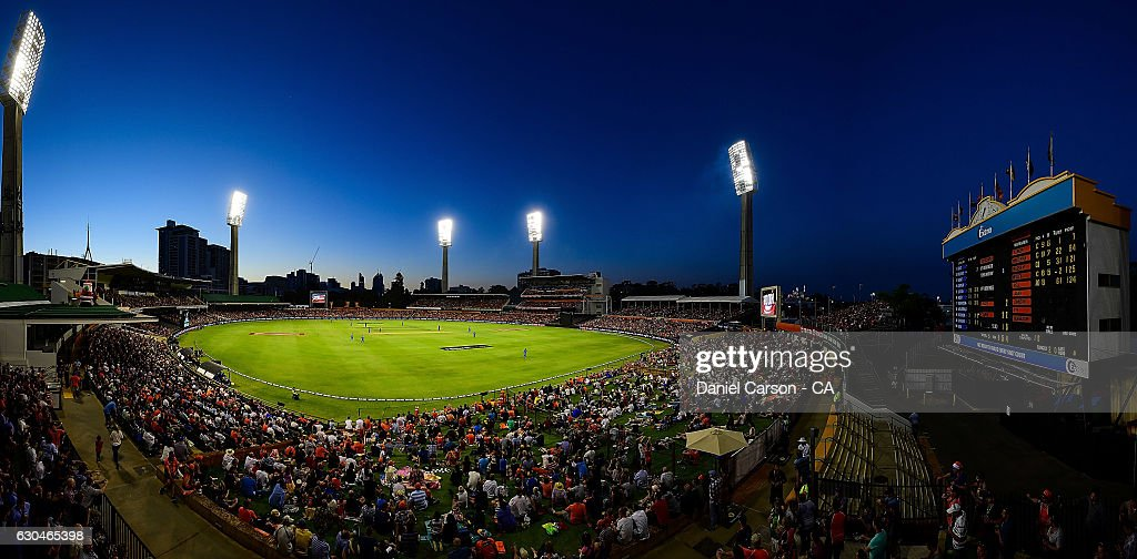 General view of the WACA ground during the Big Bash League between the Perth Scorchers and Adelaide Strikers at WACA on December 23, 2016 in Perth, Australia.