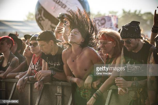 General view of the Wacken Open Air festival on August 1 2018 in Wacken Germany Wacken is a village in northern Germany with a population of 1800...