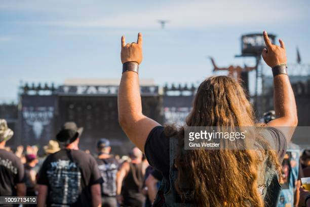 General view of the Wacken Open Air festival on August 2 2018 in Wacken Germany Wacken is a village in northern Germany with a population of 1800...