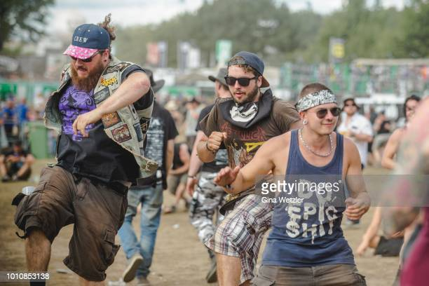 General view of the Wacken Open Air festival on August 4 2018 in Wacken Germany Wacken is a village in northern Germany with a population of 1800...