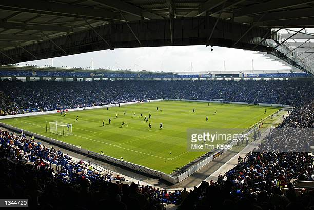 General view of the Walkers Stadium during the Nationwide League Division One match between Leicester City and Watford in Leicester England on August...