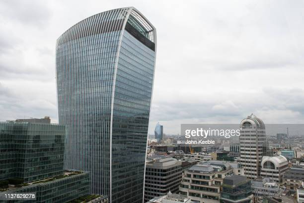 A general view of the WalkieTalkie building 20 Fenchurch Street on March 19 2019 in London England