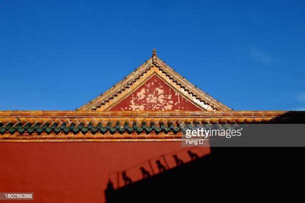 A general view of the wall of Imperial Ancestral Temple inside Shenyang Imperial Palace on September 8 2013 in Shenyang of Liaoning Province China...