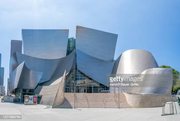 General view of the Walt Disney Concert Hall, home of the Los Angeles Philharmonic on August 05, 2020 in Los Angeles, California.