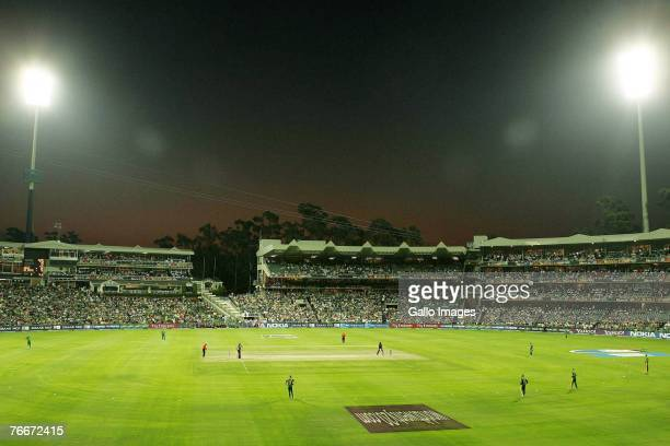 A general view of the Wanderers Stadium during the ICC Twenty20 Cricket World Cup match between South Africa and the West Indies at Wanderers Stadium...