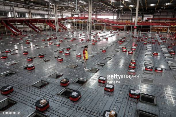 A general view of the warehouse of Jingdong a comprehensive online shopping mall on November 5 2019 in Wuhan China