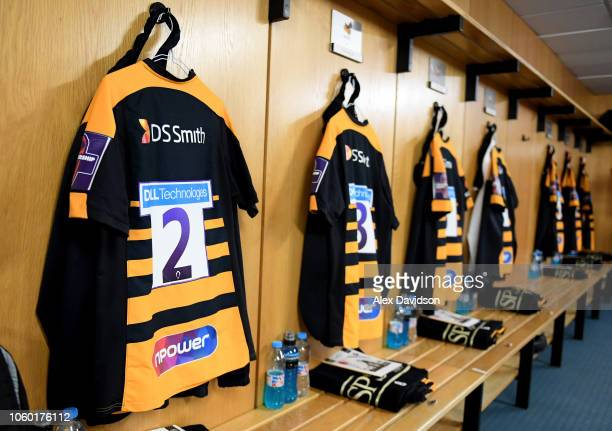 A general view of the Wasps changing room prior to the Premiership Rugby Cup match between Wasps and Bristol Rugby at Ricoh Arena on November 11 2018...