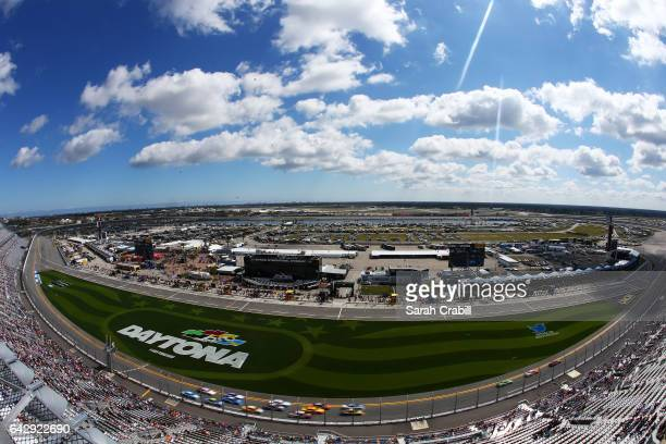 A general view of the weather delayed Monster Energy NASCAR Cup Series Advance Auto Parts Clash at Daytona International Speedway on February 19 2017...
