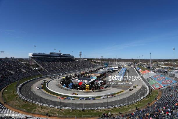 A general view of the weather delayed Monster Energy NASCAR Cup Series STP 500 at Martinsville Speedway on March 26 2018 in Martinsville Virginia