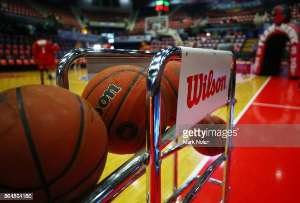 General view of the WEC before the round three NBL match between the Illawarra Hawks and the Brisbane Bullets at Wollongong Entertainment Centre on...