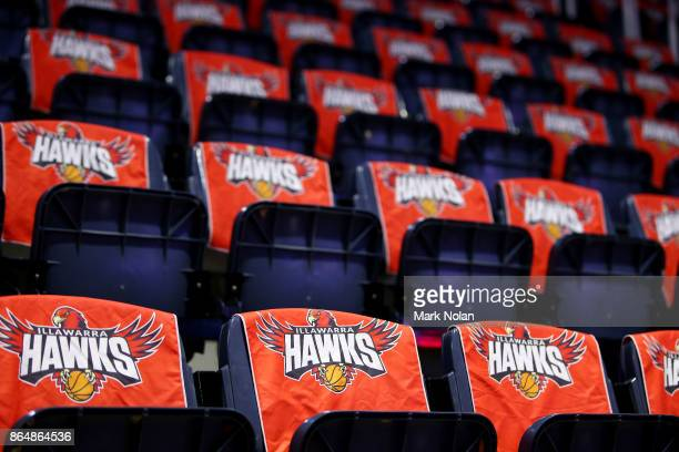 General view of the WEC seating before the round three NBL match between the Illawarra Hawks and the Brisbane Bullets at Wollongong Entertainment...