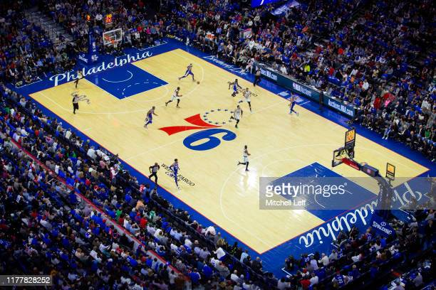 General view of the Wells Fargo Center in the second quarter of the game between the Boston Celtics and Philadelphia 76ers on October 23, 2019 in...