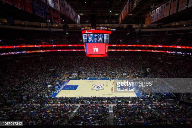 A general view of the Wells Fargo Center in the third quarter of the game between the Washington Wizards and Philadelphia 76ers on November 30 2018...