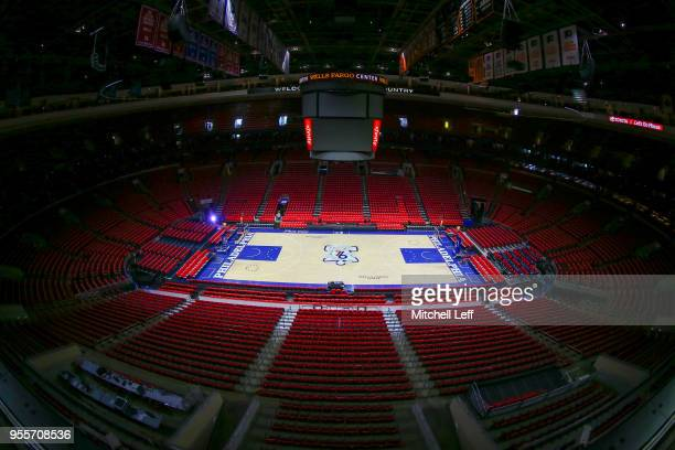 A general view of the Wells Fargo Center prior to Game Four of the Eastern Conference Second Round of the 2018 NBA Playoff between the Boston Celtics...