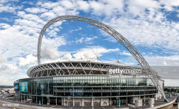 general view of the Wembley Stadium before the Tottenham Hotspur v Juventus PreSeason Friendly match at Wembley Stadium on August 5 2017 in London...