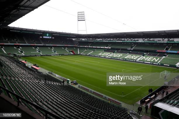 A general view of the Weserstadion before the Bundesliga match between SV Werder Bremen and Hannover 96 at Weserstadion on August 25 2018 in Bremen...