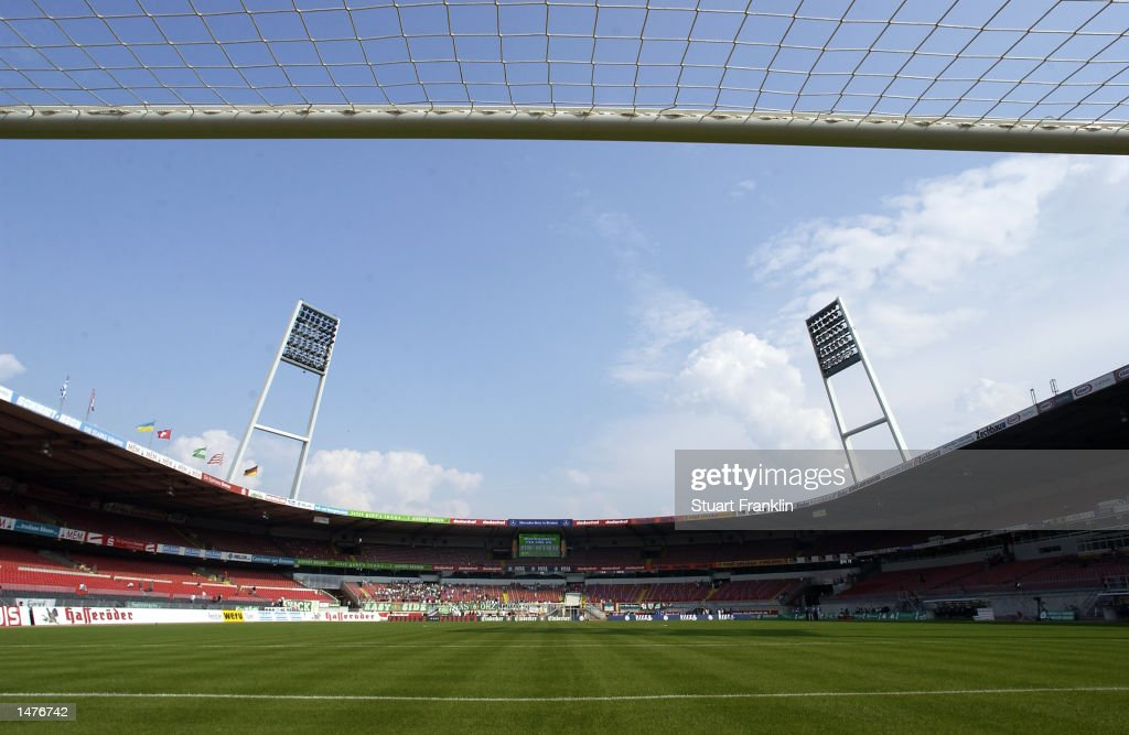 General view of the WeserStadion : News Photo