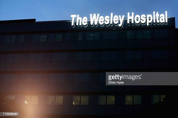 General view of The Wesley Hospital the site of a Legionnaires outbreak on June 7 2013 in Brisbane Australia An investigation is underway to...