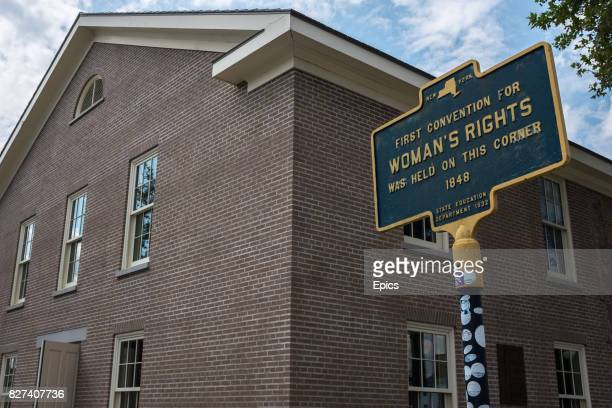 A general view of the Wesleyan Chapel in Seneca Falls New York where on July 19 and 20 1848 the first women's rights conventions were held over 300...