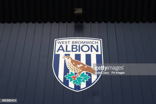 A general view of the West Bromwich Albion logo