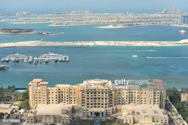 A general view of The Westin Dubai Mina Seyahi Beach Resort amp Marina and a part of the Palm Jumeirah from the Media One Hotel On Monday 30 January...