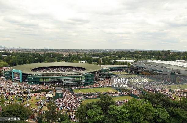 General view of the Wimbledon Lawn Tennis Championships on Day 4 at the All England Lawn Tennis and Croquet Club on June 24 2010 in London England