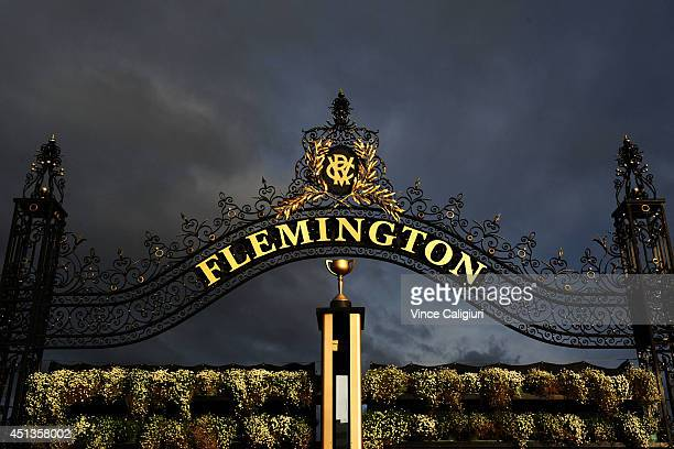 General view of the Winning Post during Melbourne racing at Flemington Racecourse on June 28 2014 in Melbourne Australia