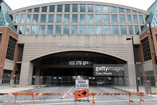 A general view of the Wisconsin Center ahead of the Democratic National Convention on August 05 2020 in Milwaukee Wisconsin Former Vice President Joe...
