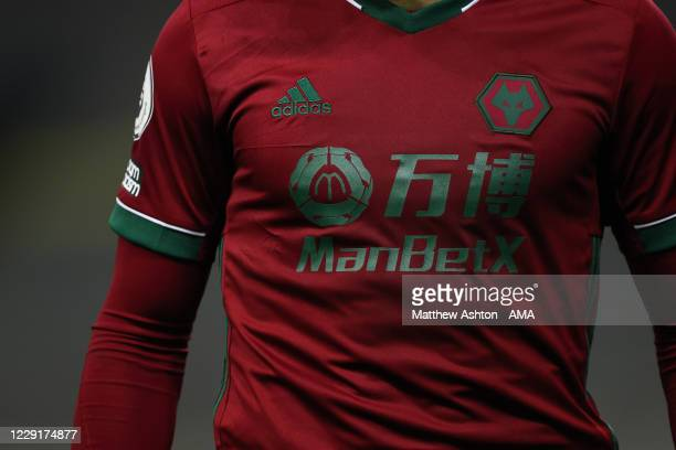 A general view of the Wolverhampton Wanderers third team Adidas kit based on the kit of the national team of Portugal during the Premier League match...