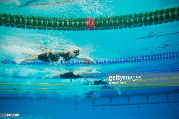 A general view of the women's 100m Freestyle on day one of the British ParaSwimming International at Ponds Forge on April 27 2017 in Sheffield England