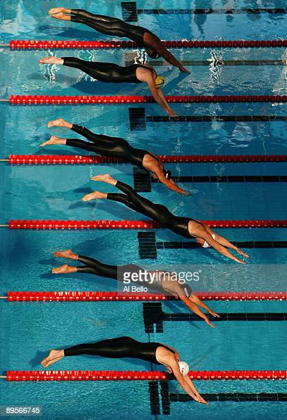 General view of the Women's 50m Breaststroke Final during the 13th FINA World Championships at the Stadio del Nuoto on August 2, 2009 in Rome, Italy.