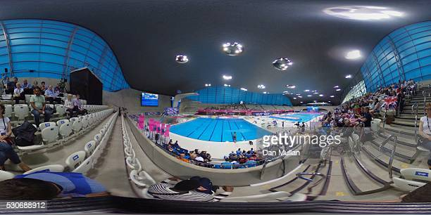 General view of the Womens Diving 1m Springboard Final on day three of the LEN European Swimming Championships at the Aquatics Centre on May 11 2016...