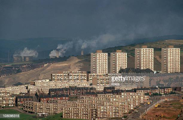A general view of the Woodside housing development which is one of the nine postwar projects that has modernised industrial Sheffield South Yorkshire...