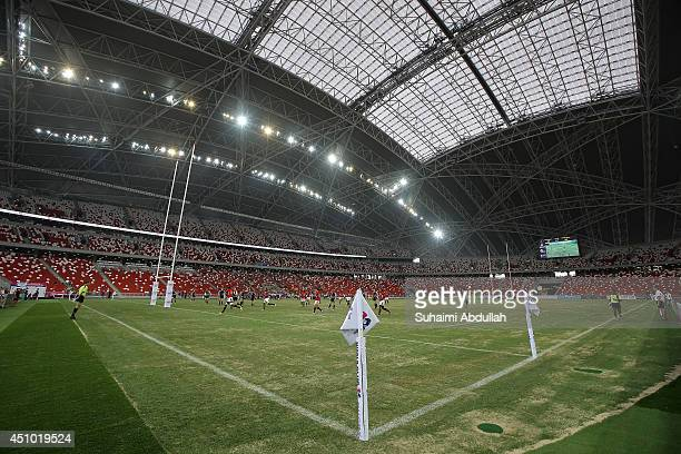 A general view of the World Club 10s match at the National Stadium at the Singapore Sports Hub on June 22 2014 in Singapore