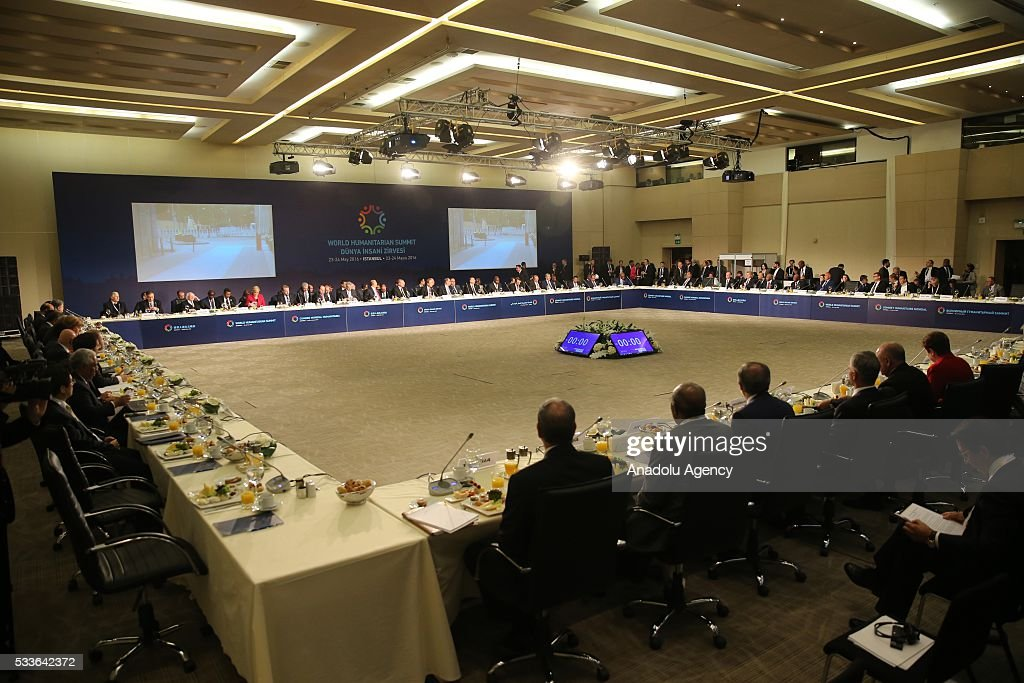General view of the World Humanitarian Summit is seen in Istanbul, Turkey on May 23, 2016.