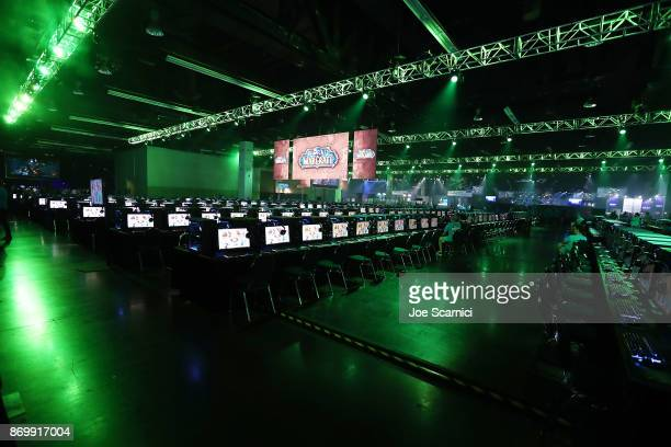 General view of the World of WarCraft demo area at BlizzCon 2017 at Anaheim Convention Center on November 3, 2017 in Anaheim, California. BlizzCon is...