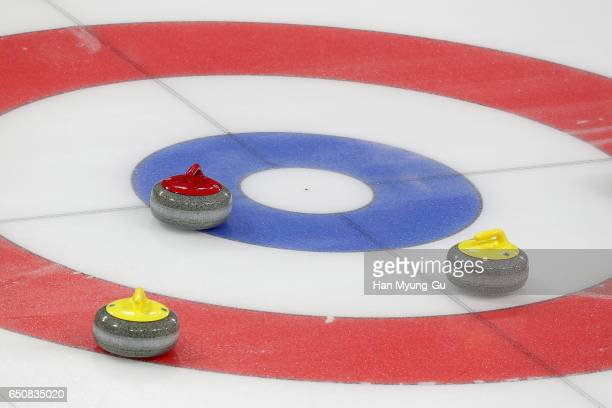 A general view of the World Wheelchair Curling Championship 2017 test event for PyeongChang 2018 Winter Olympic Games at Gangneung Curling Centre on...