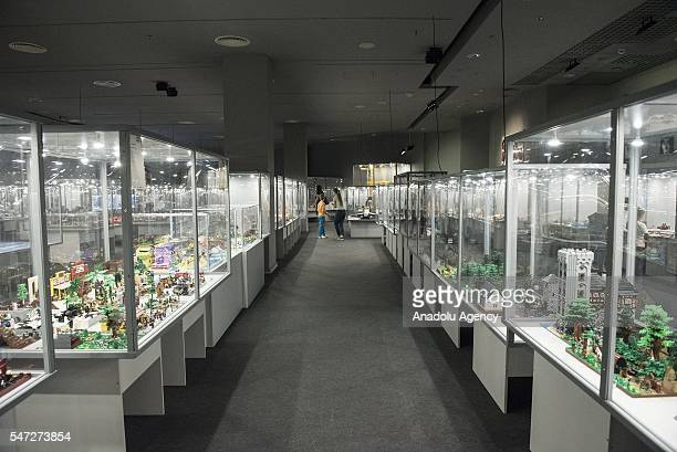 A general view of the World's biggest LEGO brick show at Galeria Kazimierz Krakow Poland on JULY 14 2016The LEGO exhibition has a surface of 1700...