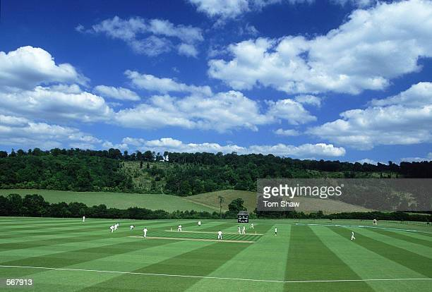 General view of the Wormsley cricket ground in Hertfordshire England on July 19 2000
