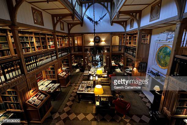 A general view of the Wormsley Library at the Getty Family Estate in Wormsley Buckinghamshire on July 21 2011 in Buckingham England