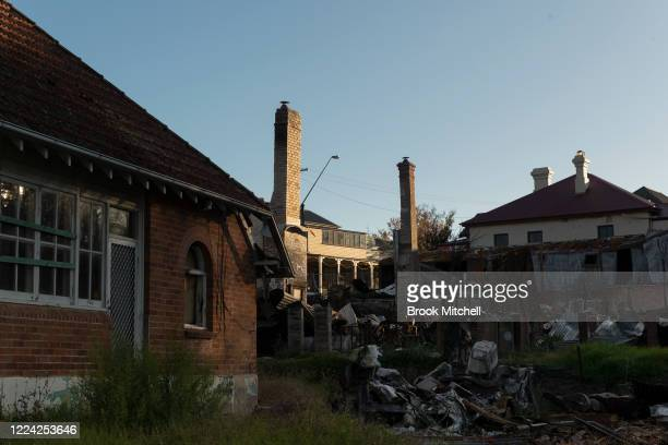A general view of the wreckage of the main street of the small community of Cobargo on May 10 2020 in Cobargo Australia The small town of Cobargo on...