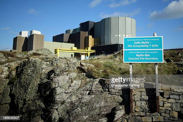 A general view of the Wylfa nuclear power station on October 23 2013 in Tregele Anglesey United Kingdom The government has announced that the first...