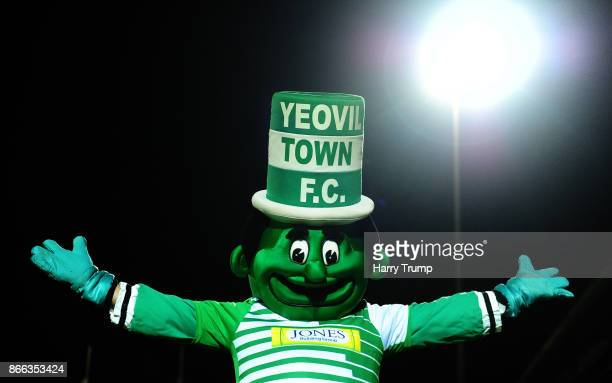 General view of the Yeovil Town mascot during the Checkatrade Trophy match between Yeovil Town and Chelsea U21 at Huish Park on October 25 2017 in...