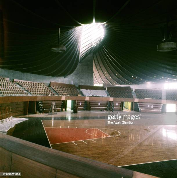 General view of the Yoyogi National Gymnasium on September 2, 1964 in Tokyo, Japan.