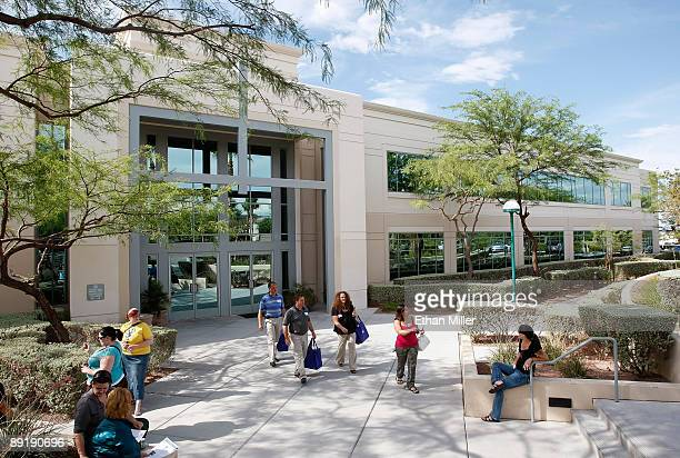 A general view of the Zapposcom headquarters July 22 2009 in Henderson Nevada Amazoncom Inc announced today it would acquire the online shoe retailer...
