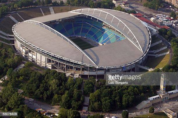 General view of the Zentral Stadium in Leipzig prior the FIFA Confederations Cup 2005 Match between Brazil and Greece on June 16, 2005 in Leipzig,...